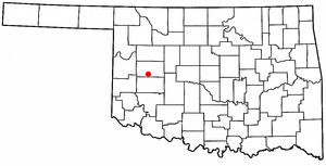 Location Of Clinton Oklahoma