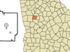 Location In Pike County And The State Of Georgia