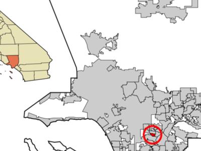 Location Of Cudahy In Los Angeles County California