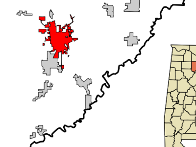 Location In Cullman County And The State Of Alabama