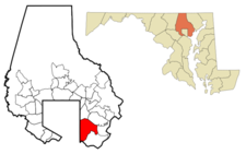 Location In The State Of Maryland Usa