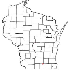 Location Of Edgerton Wisconsin