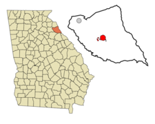 Location In Elbert County And The State Of Georgia