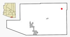 Location In Santa Cruz County And The State Of Arizona