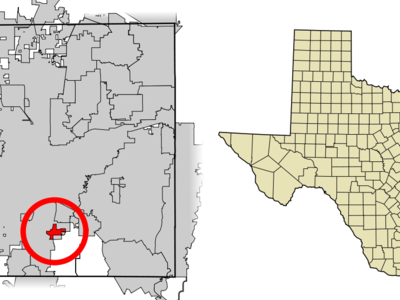 Location Of Everman In Tarrant County Texas