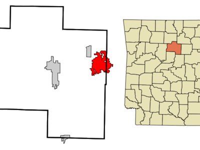 Location In Van Buren County And The State Of Arkansas
