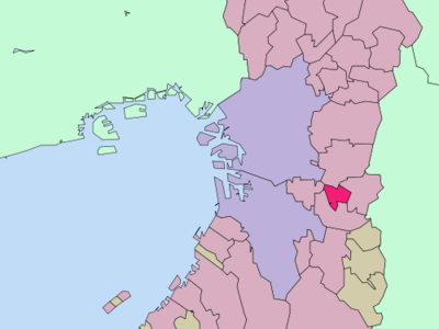 Location Of Fujiidera In Osaka