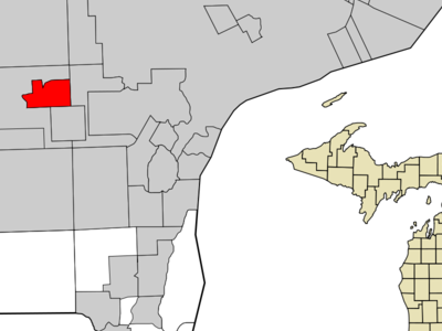 Location In Wayne County And The State Of Michigan