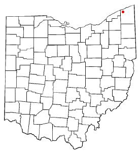 Location Of Geneva Within Ashtabula County Ohio