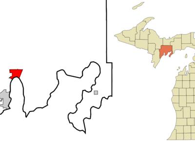 Location Of Gladstone Michigan