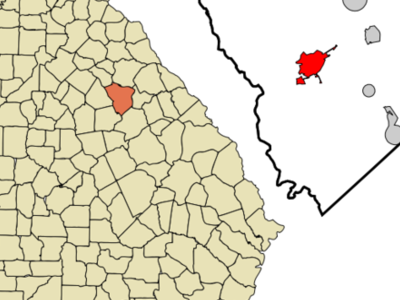 Location In Greene County Ga And The State Of Georgia