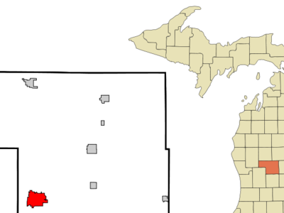 Location Of Greenville Within Montcalm County Michigan