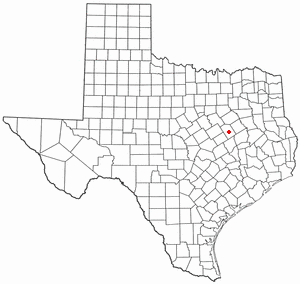 Location Of Groesbeck Texas