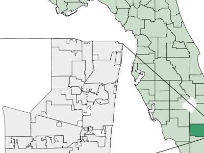 Location Of Hallandale In Broward County Florida