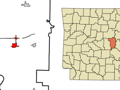 Location In Prairie County And The State Of Arkansas