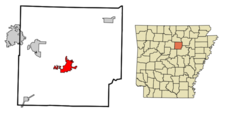 Location In Cleburne County And The State Of Arkansas