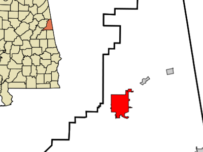 Location In Cleburne County And The State Of Alabama