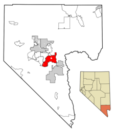 Location Of Henderson In Clark County Nevada