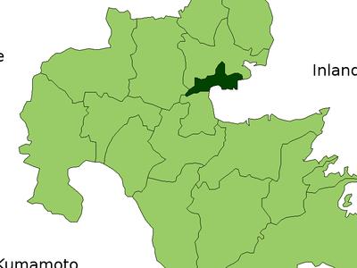 Location Of Hiji In Ita Prefecture