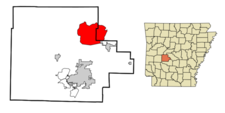 Location In Garland County And The State Of Arkansas
