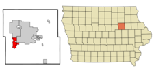 Location Of Hudson Iowa
