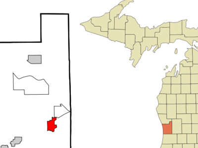 Location Of Hudsonville Within Ottawa County Michigan