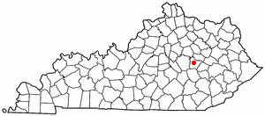 Location Of Irvine Kentucky
