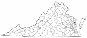 Location Of Irvington Virginia