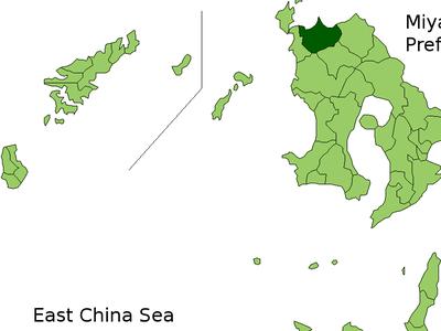Location Of Izumi In Kagoshima
