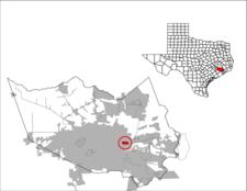 Location Of Jacinto City In Texas