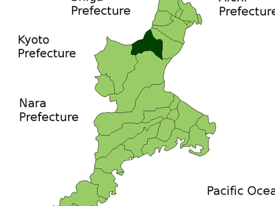 Location Of Kameyama In Mie