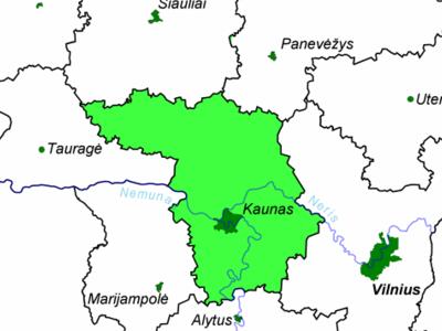 Location Of Kaunas County