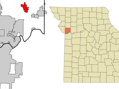 Location Of Kearney Within Missouri