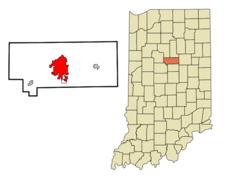Location Of Kokomo In The State Of Indiana