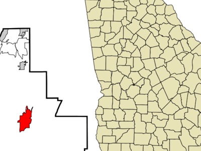 Location In Walker County And The State Of Georgia