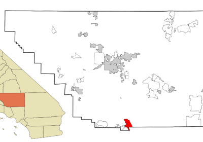 Location In Kern County And The State Of California