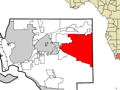 Location Within Lee County In The State Of Florida