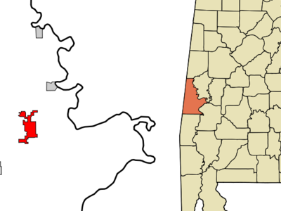Location In Sumter County And The State Of Alabama