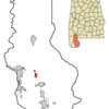 Location In Baldwin County And The State Of Alabama