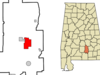Location In Crenshaw County And The State Of Alabama