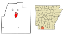 Location In Columbia County And The State Of Arkansas