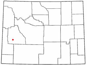 Location Of Marbleton Wyoming