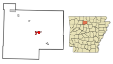 Location In Searcy County And The State Of Arkansas