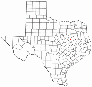 Location Of Mexia Texas