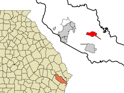 Location In Liberty County And The State Of Georgia