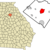Location In Walton County And The State Of Georgia