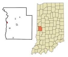 Location Of Montezuma In The State Of Indiana