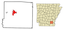 Location In Drew County And The State Of Arkansas