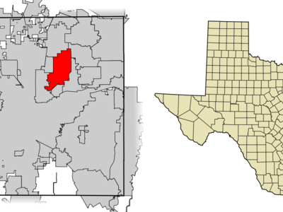 Location Of North Richland Hills In Tarrant County Texas