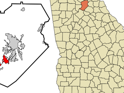 Location In Hall County And The State Of Georgia